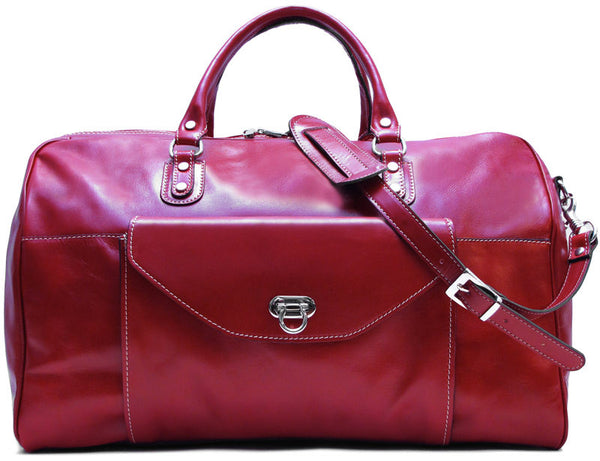 FLOTO Monteverde Leather Duffle Tuscan Red