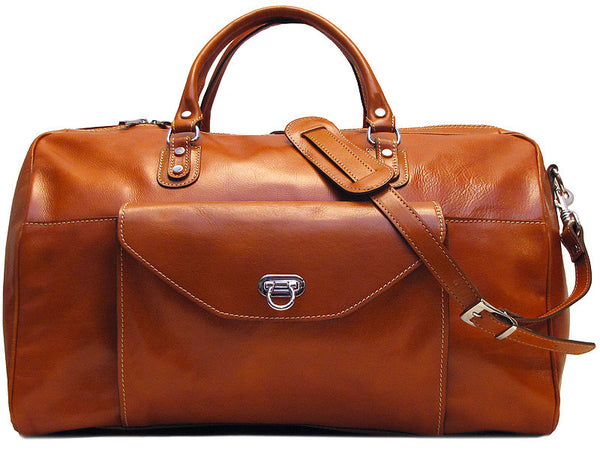 FLOTO Monteverde Leather Duffle Olive Honey Brown