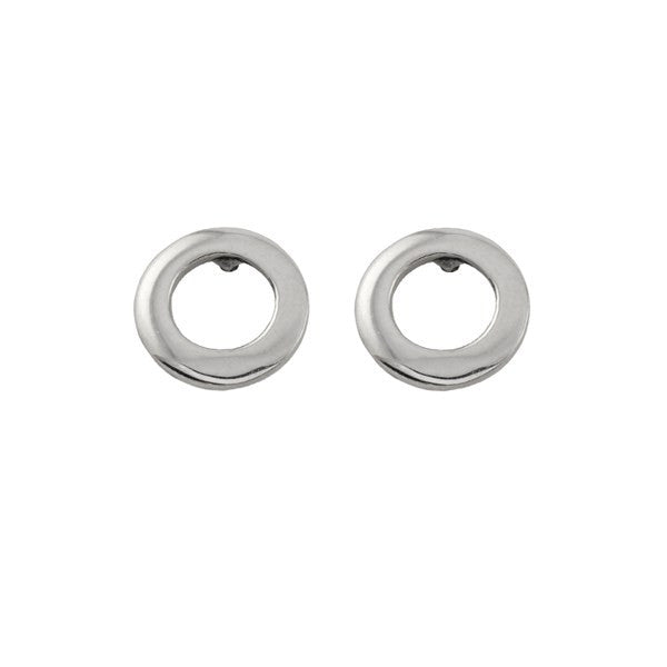ICHU Open Circle Sterling Silver Stud Earrings