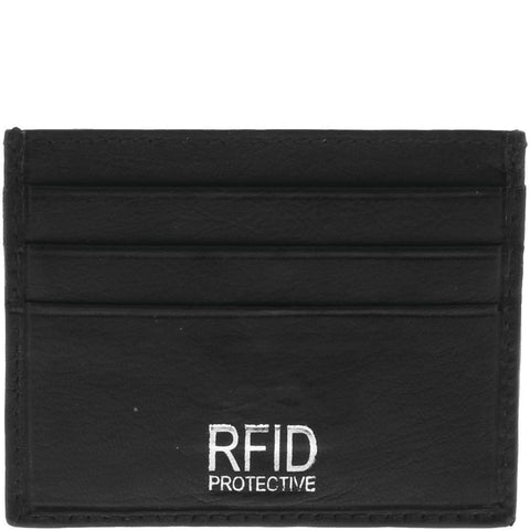 COBB & CO NATHAN RFID LEATHER CARD HOLDER