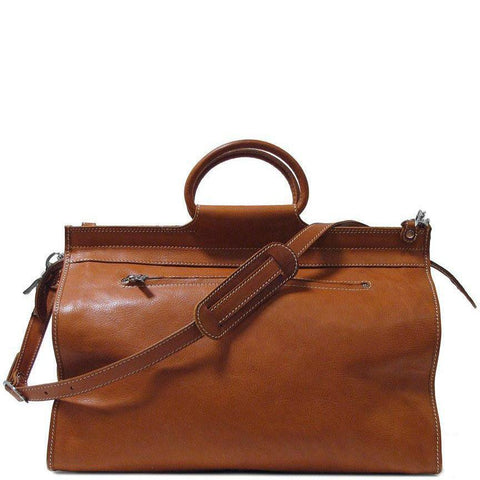 Floto Italian Parma Leather Travel Tote Gladstone Bag