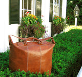 FLOTO Piana Leather Tote Vecchio Brown