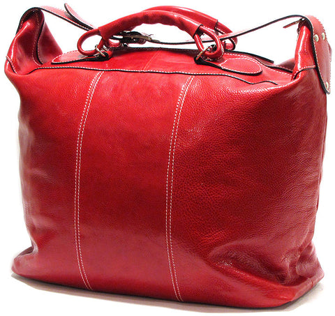 FLOTO Piana Leather Tote Tuscan Red