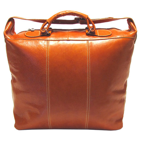 FLOTO Piana Leather Tote Orange