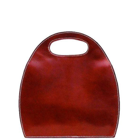 Floto Italian Leather Pietrini Women's Handbag Purse red 2