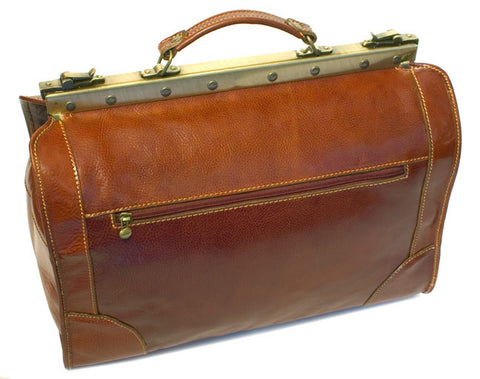 FLOTO Positano Leather Duffle Vecchio Brown