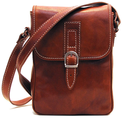 FLOTO Poste Crossbody Bag Olive Brown