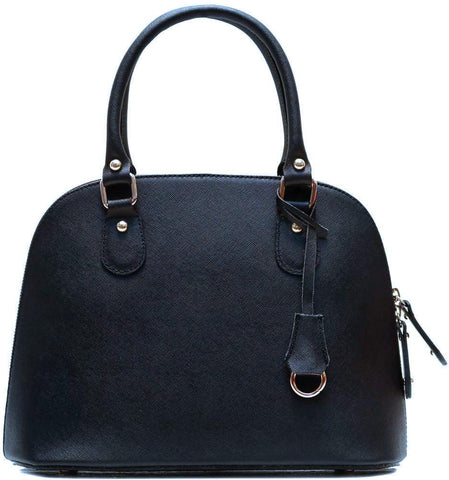 FLOTO RAGAZZA LEATHER MINI SATCHEL BLACK