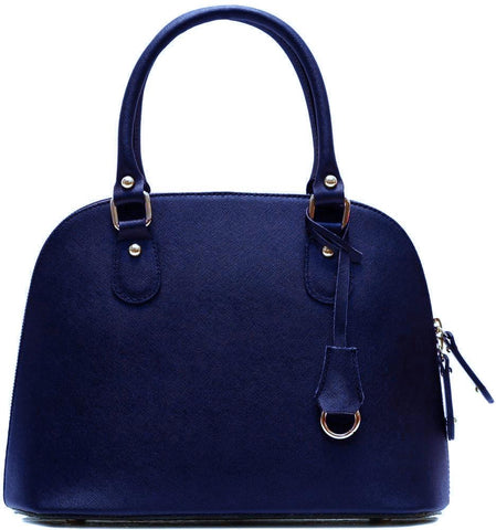 FLOTO RAGAZZA LEATHER MINI SATCHEL BLUE