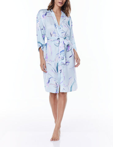 Gingerlily Sahara Satin Robe Blue