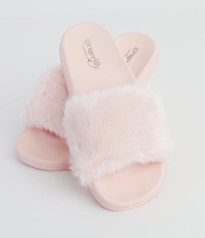 Gingerlilly Fluffy Slippers Pink