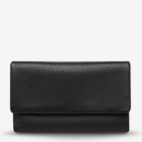 STATUS ANXIETY AUDREY PEBBLE LEATHER WALLET BLACK