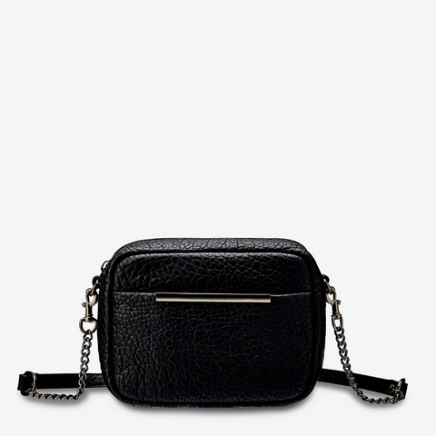 STATUS ANXIETY CULT LEATHER SHOULDER/CROSSBODY BAG BLACK BUBBLE