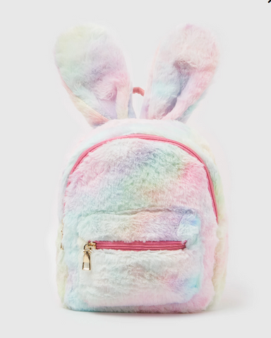 Izoa Plush Backpack Peta Rabbit Bunny Pink Multi