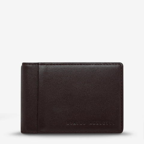 STATUS ANXIETY MELVIN LEATHER WALLET CHOCOLATE