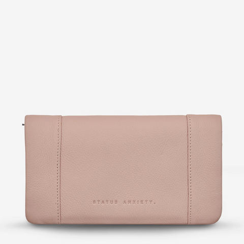 STATUS ANXIETY SOME TYPE OF LOVE LEATHER WALLET DUSTY PINK