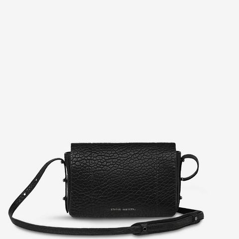 STATUS ANXIETY SUCCUMB LEATHER CROSSBODY BAG BLACK BUBBLE