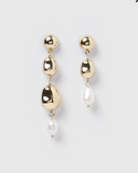 Izoa Judy Earrings Gold Pearl