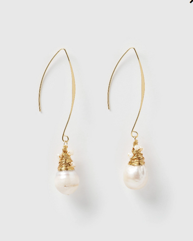 Miz Casa & Co Nadia Drop Earrings Freshwater Pearl