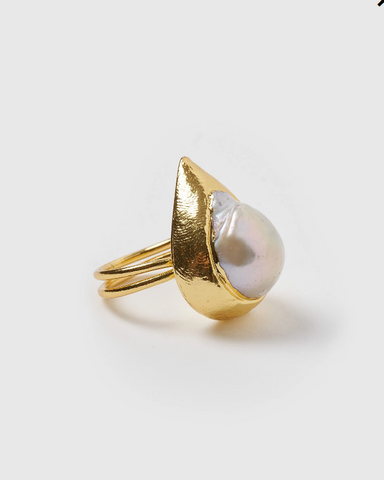 Miz Casa & Co Rhea Ring Gold Freshwater Pearl