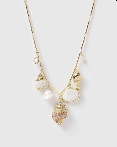 Miz Casa & Co Pacific Island Necklace Gold