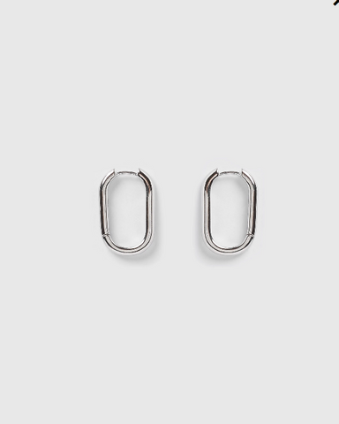 Izoa Tessa Hoop Earrings Silver