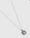 Izoa Coronation Coin Necklace Silver