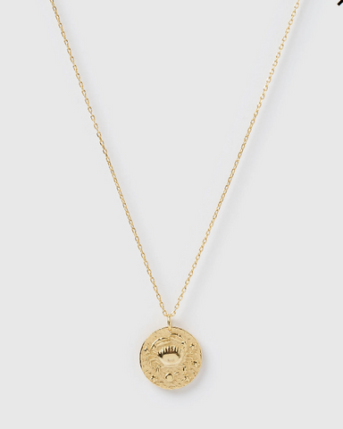 Izoa Star Sign Necklace Cancer Gold
