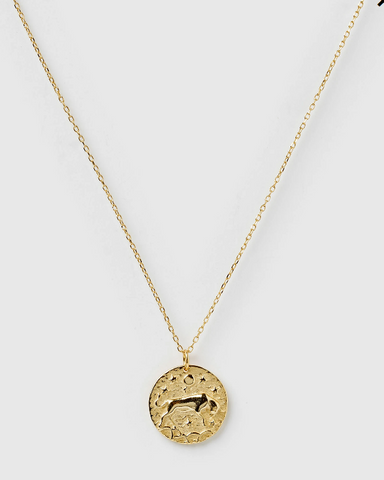 Izoa Star Sign Necklace Taurus Gold