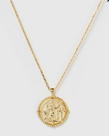 Izoa Superstition Pendant Necklace Gold