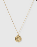 Izoa Tribute Coin Necklace Gold