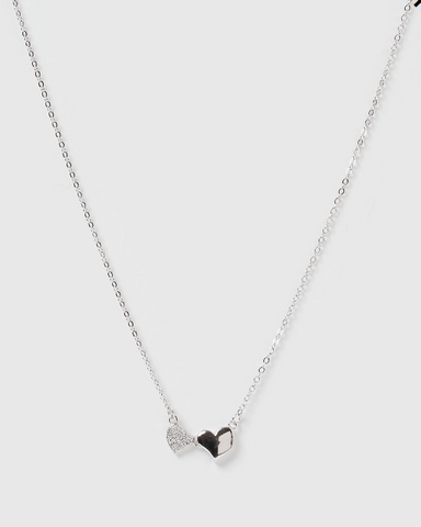 Izoa Kids Hearts Necklace Silver
