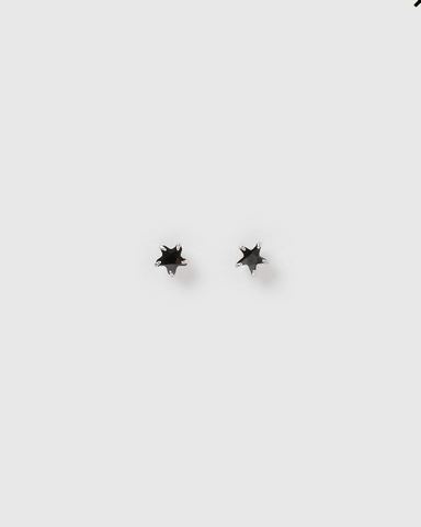 Izoa Kids Star Stud Earrings Black