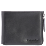 COBB & CO Tommy RFID Leather Zip Wallet BLACK