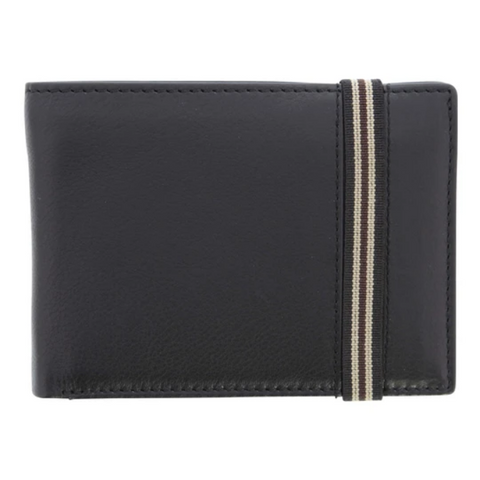COBB & CO Harris Leather RFID Safe Elastic Wallet
