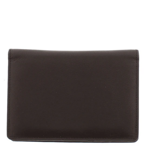 COBB & CO Charlie RFID Leather Passport Holder BROWN