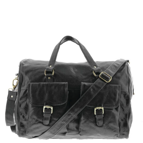 COBB & CO Soho Leather Overnight Duffle Bag