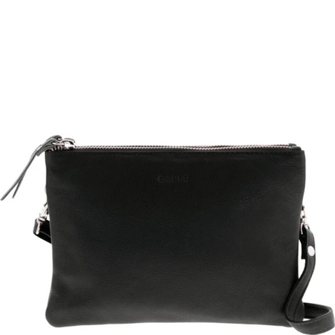 GABEE Fulton Soft Leather Double Pouch Crossbody
