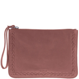 GABEE Liberty Soft Leather Whipstitch Pouch Wristlet