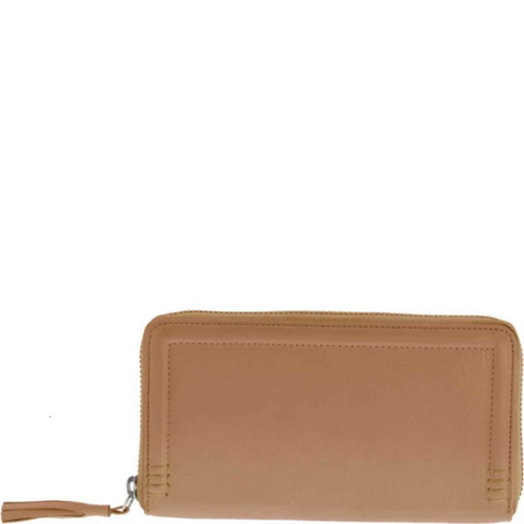 GABEE Leia RFID Leather Ladies Zip Around Wallet
