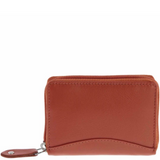 COBB & CO Stretch RFID Safe - Leather Expandable ZIP AROUND Card Wallet