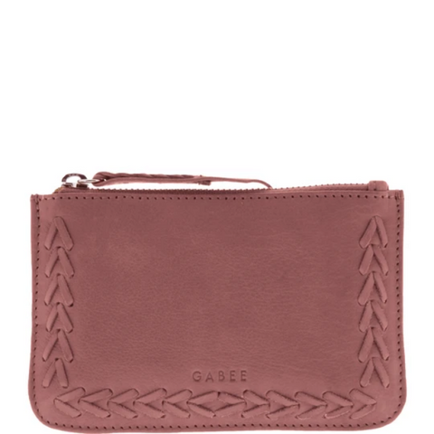 GABEE Bronx Small Soft Leather Whipstitch Pouch