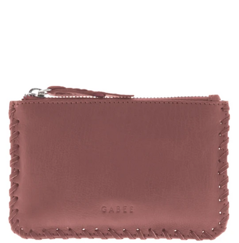 GABEE Bleecker Small Soft Leather Whipstitch Pouch