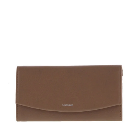 MONIQUE Lila RFID Leather Purse/Snap Closure Wallet