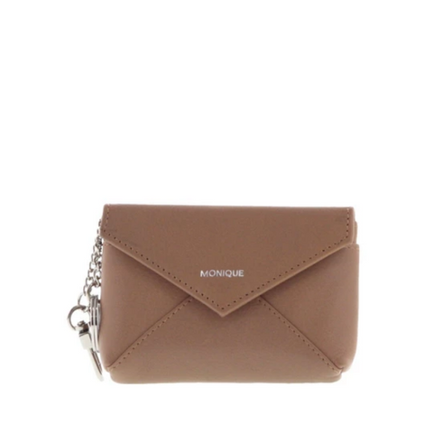 MONIQUE Pepa Leather Snap Closure Keychain Pouch