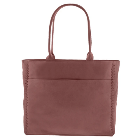 GABEE Lennox Leather Whipstitch Tote