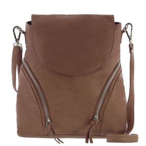 GABEE Sharni Soft Leather 2-in-1 Backpack/Crossbody Bag