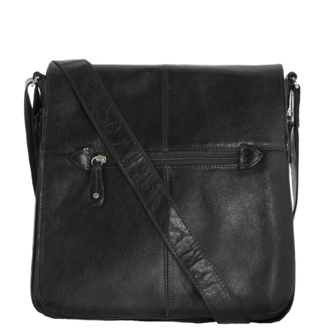 COBB & CO Alex Leather Crossbody Satchel (Large)