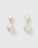 Miz Casa & Co Ambra Earrings Gold Pearl