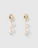 Miz Casa & Co Lady Jane Drop Earrings Gold Pearl